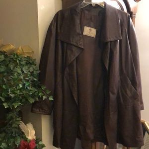 FLORENCE ITALY-BROWN LEATHER SWING JACKET
